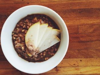 chocolate buckwheat porrige