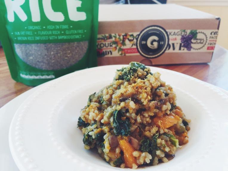 Healthy Mushroom & Pumpkin Risotto